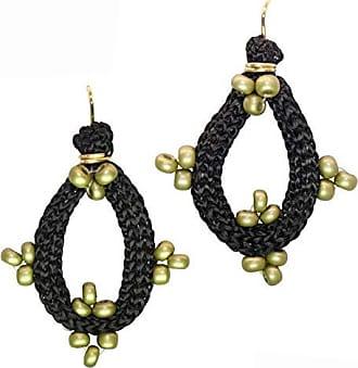 Tinna Jewelry Brinco Dourado Zig Zag Pequeno (Verde)