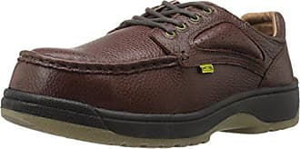 Florsheim Work Mens Compadre FE2440 Work Shoe, Brown, 6 D US