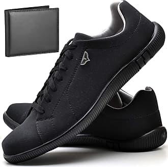 Juilli Sapatênis Sapato Casual Com Carteira Masculino JUILLI 920DB Tamanho:37;cor:Preto;gênero:Masculino