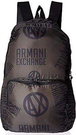 A|X Armani Exchange Armani Exchange Mens Printed Logo Backpack, Green/Black, TU