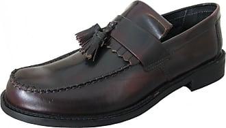 Roamers Oxblood Tassel Loafers Size 12 UK