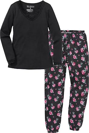 Bonprix Dam Pyjamas i svart lång ärm - bpc selection d7e7abf8ab060