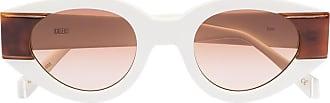 Kaleos Óculos de sol gatinho Rice 5 - Branco