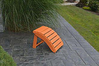A & L Furniture A & L Furniture Poly Folding Ottoman, Orange