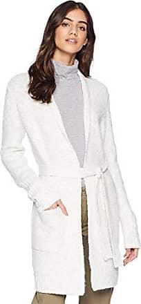 Kensie Womens Belted Cardigan, Ivory Cloud, L