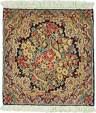 Nain Trading 59x55 Handknotted Kerman Rug Square Dark Grey/Orange (Wool, Iran/Persia)