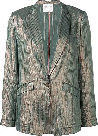 Forte_Forte metallic striped blazer - Green