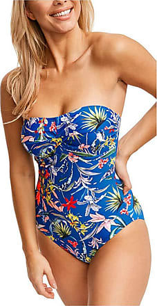 Figleaves Womens Botanical Garden Swimsuit Size 16 in Blue Floral