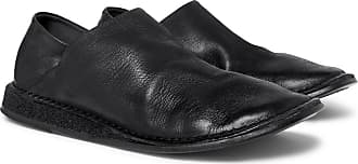 Marsèll Stag Collapsible-heel Leather Loafers - Black