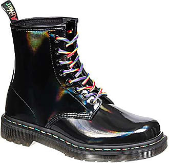 f539d99d29193b Dr. Martens 1460 Damen Rainbow Schwarz Stiefel-UK 6