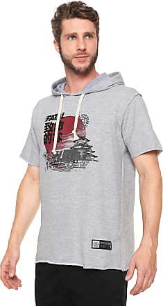 Fatal Surf Camiseta Fatal Surf Estampada Cinza cc983030ed4