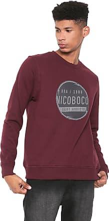 NICOBOCO Moletom Flanelado Fechado Nicoboco Metar Vinho
