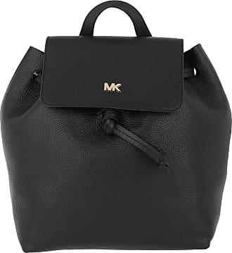 Michael Kors Junie MD Flap Backpack Black