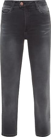 Replay Calça Jeans Highwaist Cropped - Cinza