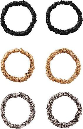Slip Set Of Six Skinny Silk Hair Ties - Black