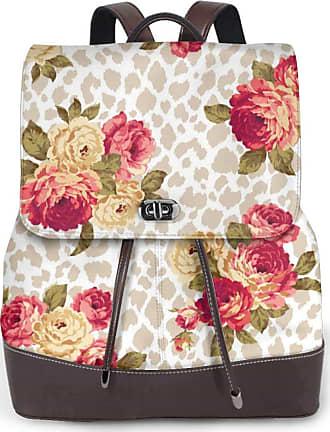 Not Applicable Clothing Rose Flower Pattern Women Fashion Genuine Leather Backpack Girls Travel School Mini Shoulder Bag