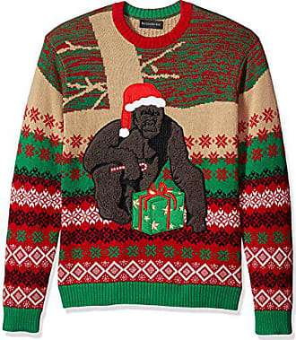 Blizzard Bay Mens Harambe Claus Ugly Christmas Sweater, Small