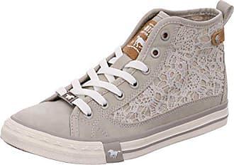 Mustang Damen High Top Sneaker - Grau Schuhe in Übergrößen, Größe 45 710d17ace9