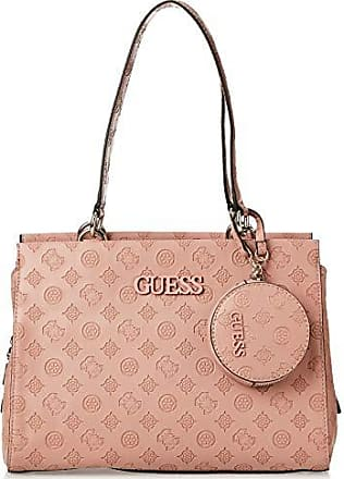 Guess janelle, borsa a mano donna, rosa (rosewood), 16x20x30 cm (w x h x l)