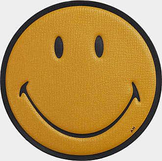 Anya Hindmarch Smiley Oversized Sticker Capra in Mustard
