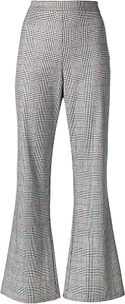 Vivetta flared checked trousers - Black