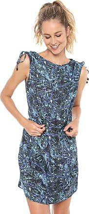 8705b8a09 Cia Maritima Vestido CIA.MARITIMA Curto Estampado Azul-marinho