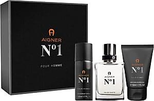Aigner Mens fragrances No.1 Gift Set Eau de Toilette Spray 50 ml + Shower Gel 150 ml + Deodorant Spray 150 ml 1 Stk