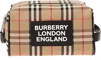 Burberry Patterned Wash Bag Unisex Beige