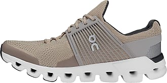 On On Running Mens Cloudswift Mesh Sand Grey Trainers 10.5 UK