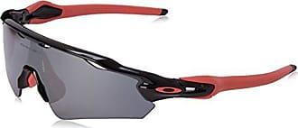 Oakley Mens Radar Ev Path (a) Polarized Iridium Rectangular Sunglasses, Polished black, 35 mm
