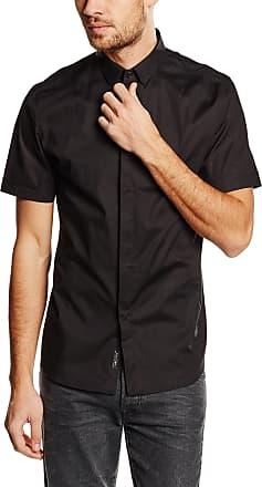 Religion Mens League Short Sleeve Casual Shirt, Black, Large