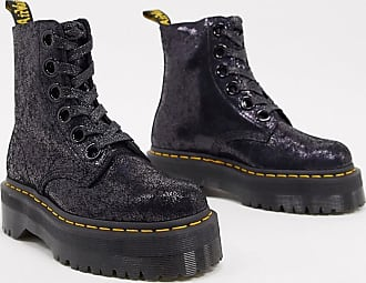 Dr. Martens Molly - Anfibi neri in pelle screpolata-Nero