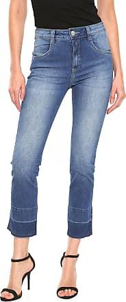 Lebôh Calça Jeans Lebôh Slim Cropped Azul