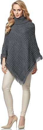Merry Style Womens Poncho MSSE0038 (Graphite, S/M)
