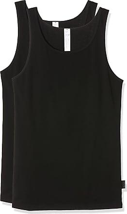 sloggi Mens Men 24/7 Sh 02 Vest 2p Vest, Black (Noir), 44 UK (Manufacturer size: 4)