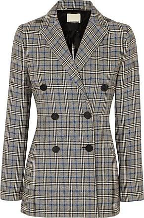 By Malene Birger Checked Cotton-blend Blazer - Gray