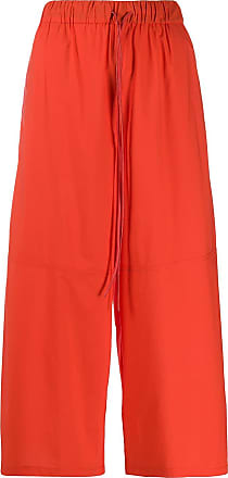 Yves Salomon cropped palazzo pants - Red