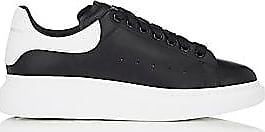 Alexander McQueen Mens Oversized-Sole Leather Sneakers - Black Size 7 M