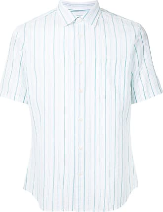 Durban short sleeve stripe print shirt - Branco