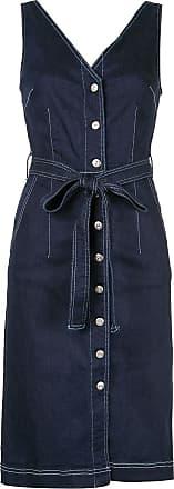 3x1 Vestido jeans midi Albany - Preto