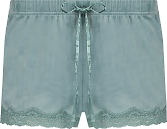 Hunkemöller Velvet lace Shorts Green L