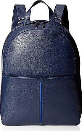 Bugatchi Mens Pebble Leather Two-Tone Backpack