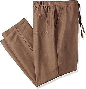 6073bb0136 Cubavera Drawstring Pant with Back Elastic Waistband, Chocolate Brown,  XX-Large x 32L