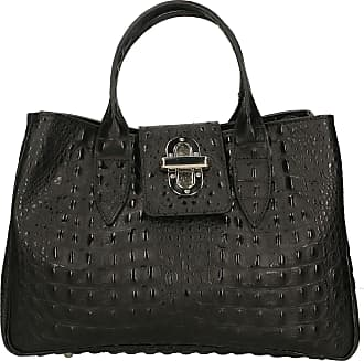 Chicca Borse Aren - Woman Handbag in Genuine Leather Made in Italy - 35x25x15 Cm