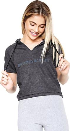 Calvin Klein Underwear Moletom Fechado Calvin Klein Logo Cinza