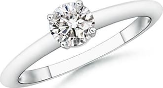 Angara Valentine Day Sale - Round Diamond Solitaire Engagement Ring