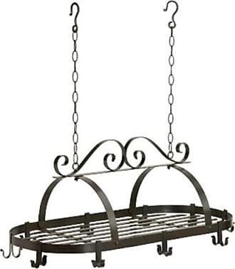 Zingz & Thingz 57070365 Metal Scroll Design Hanging Cookware Holder