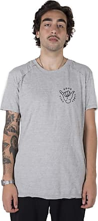 Stoned Camiseta Longline Gold Only Good Vibes Cinza Xg