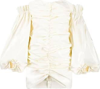 Rotate Vestido drapeado de um ombro só - Neutro