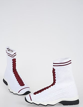 Fendi Sock Sneakers with Embroideries Größe 35,5